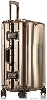 [クリアランスセール]LNMLAN ハイエンド アルミニウムマグネシウム合金製スーツケース 機内持ち込みスーツケース 預け入れスーツケース キャリーバッグ TSAロック キャスター 旅行用 出張用1801