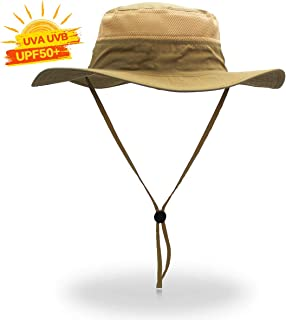 Cimkiz Sun Hats for Men and Women Fishing Hat UPF 50+ Sun Protection Breathable Boonie Hat Wide Brim Bucket Hat for Fishing Beach Hiking Gardening Hunting Travelling Golf New Upgraded