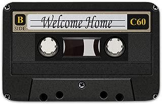 Funny Doormats Anti-Slip Floor Mat Cassette Tape Mat Indoor/Outdoor Door Mat,30 x 18 Inch (Cassette Tape)