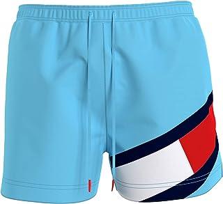 Tommy Hilfiger SF UM0UM02048CVB Men's Swimming Trunks Medium Drawstring Size L Turquoise