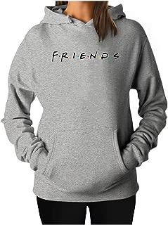 Qrupoad Women Cute Sweatshirt Teen Girls Hoodie Oversized Crewneck Fleece Pullover Tops with Pockets