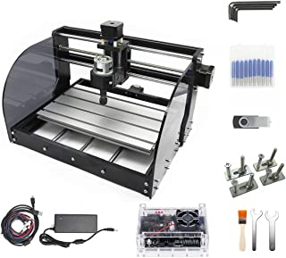 CNC 3018 Pro Max 3 Axis Desktop DIY Mini Wood Router Kit Engraver Woodworking PCB PVC Milling Engraving Carving Machine GR...