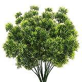 HUAESIN 4pcs Ramo Planta Arbusto Artificial Decorativa 30cm Planta Plastico Flor Verde Art...