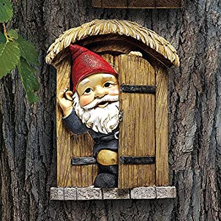 Garden Gnome Statue Knothole Welcome