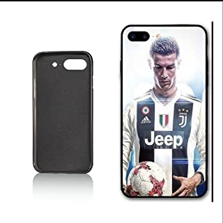 Cristiano Ronaldo in Juventus Portugal Team Ronaldo Fans Italian Serie A Case for iPhone 7 Plus iPhone 8 Plus,PC Material Hard Case Never Fade