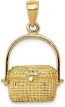 gold nantucket basket pendant