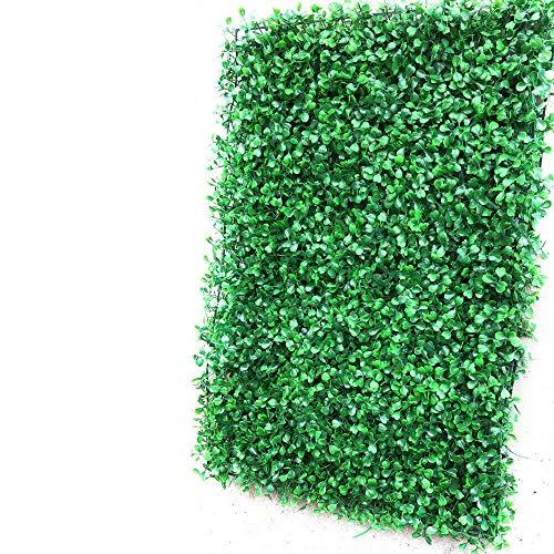 OUKANING 12tlg Künstlich Pflanze Zaun Bildschirm PE Grün Hecke Matte Gang Mauer Dekor