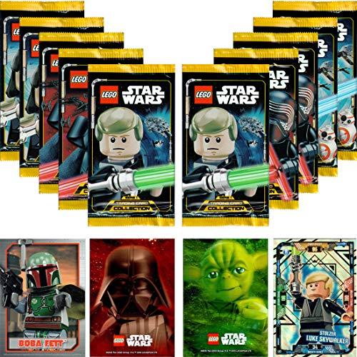 LEGO STAR WARS Trading Card Collection Serie 1: 10 Booster + bonus + carta LE (LE3 Stolzer Luke Skywalker)