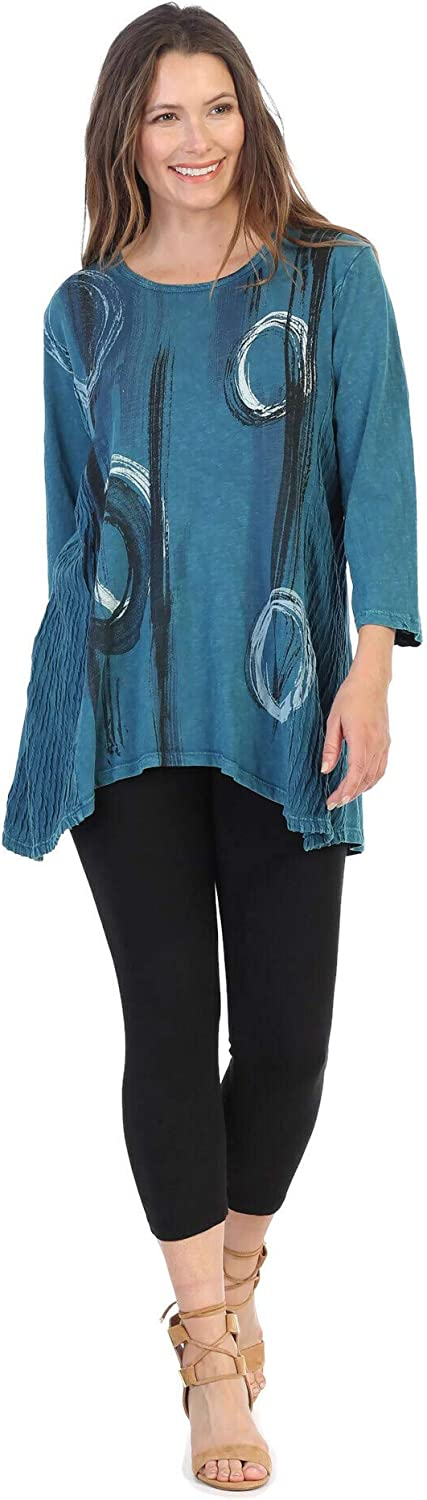 Jess Jane Women's Canali Industry No. 1 sale Wave Mineral Contrast Washed Knit Cot