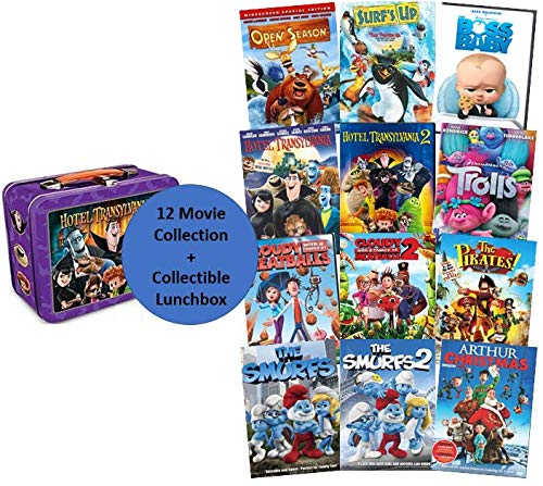 Dreamworks 12-Movie DVD Collection: Trolls / Boss Baby / Hotel Transylvania 1 & 2 / Cloudy with a Chance of Meatballs 1 & 2 / The Smurfs 1 & 2 / Open Season / Surfs Up / The Pirates / Arthur Christmas