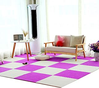 MAHFEI Foam Interlocking Floor Mats Living Room Bedroom Child Crawling Collision Protection Suede Cold Protection Soft PE,...