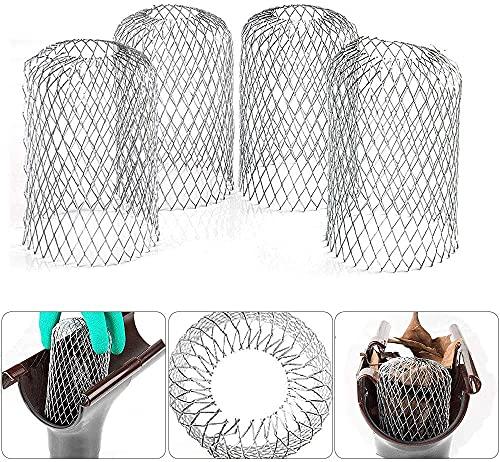 6 filtros de canalón de aluminio flexible de 8,5 cm de...