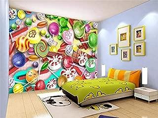FSLUCKY Photo 3D Custom Wallpaper Living Room Mural Decorative Candies Cartoon for Kids Paining Mural 3D Wallpaper Image for Walls 3D-D