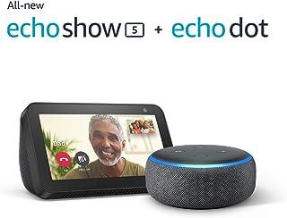 Echo Show 5, Charcoal with Free Echo Dot (3rd Gen)