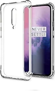 WOW Imagine Flexible Shockproof Crystal Clear TPU Back Cover Case Full Protection with Cushioned Edges Clear TPU Back Case Cover for OnePlus 7 Pro 1+7 Pro - Transparent