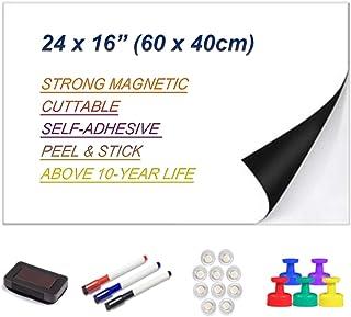 Ścieralna tablica suchościeralna na sucho, gruba, magnetyczna naklejka, samoprzylepna, 60 x 40 cm, miękka tablica suchości...