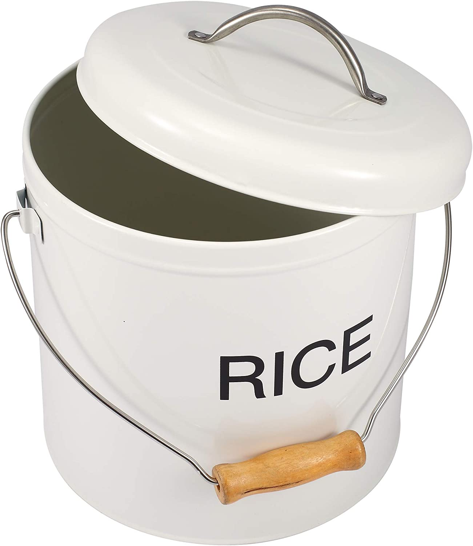 Mehl mit dichtem Deckel ideal f/ür M/üsli Nudeln und mehr Reis Wei/ß Aufbewahrungsbox f/ür trockene Lebensmittel Reis
