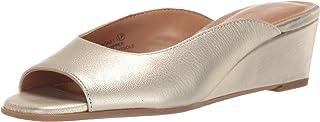 Aerosoles Women's MAGNET Sandal, GOLD LEATHER, 10 W US