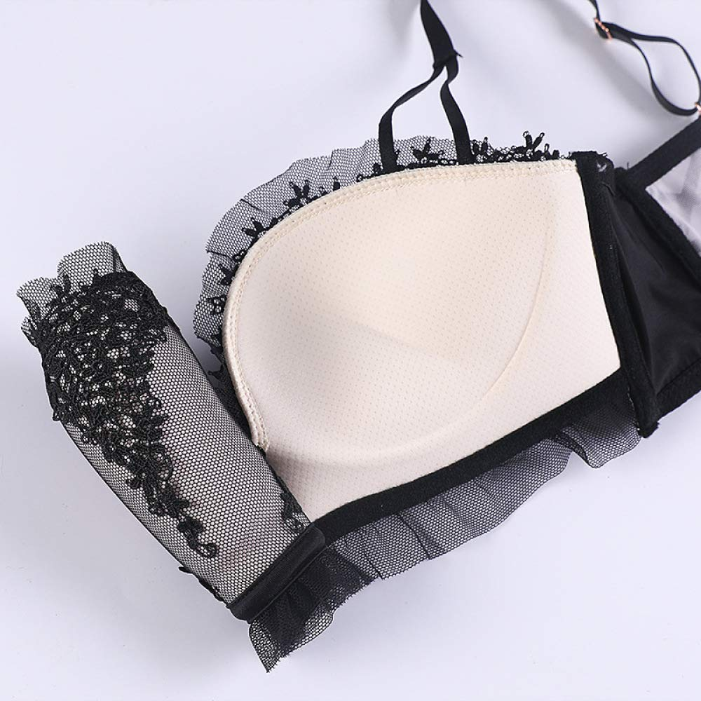 Yanwenkang Conjunto de Ropa Interior Ajustable sin Costuras y Flor ...