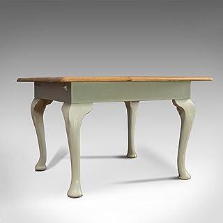 Table de salle à manger carrée style ancien en pin et acajou
