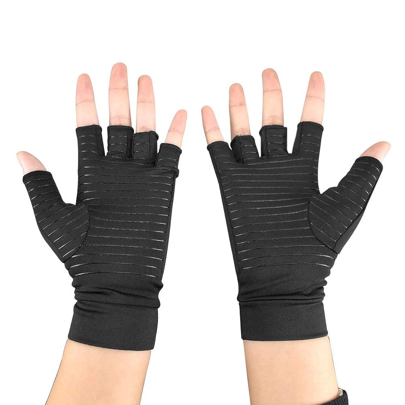 ボウリングビュッフェ自明圧縮手袋関節炎の手袋はリウマチRSI手根管からの痛みを和らげる,M