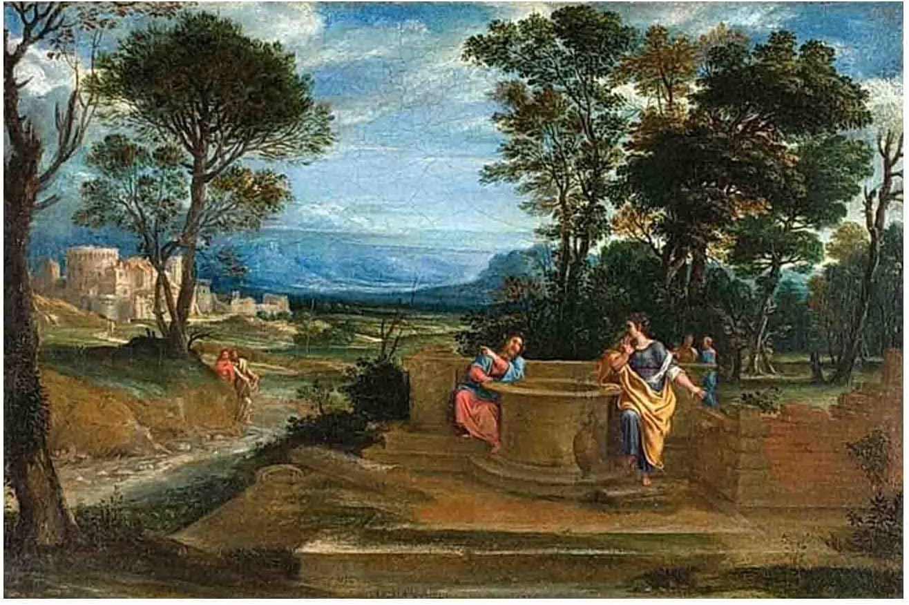 Christ specialty shop and the Woman of By Domenichino Ranking TOP8 Samaria Canvas Prints,C