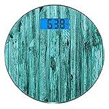 Escala digital de peso corporal de precisión Ronda Pared turquesa de turquesa...