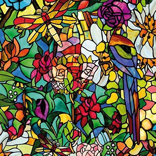 d-c-fix Transparente Selbstklebende Folie Fensterfolie Klebefolie Glasfolie klebend Tulia 45 x 200 cm - 6 0647 - Sichtschutzfolie Dekorieren Basteln Schmücken