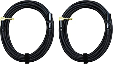 "Audio 2000s E14125P2 1/4"" TRS Right Angle to XLR Male 25 Ft Audio Cable (2 Pack)"