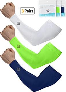 SHINYMOD Cooling Sun Sleeves 2019 Newest Upgraded Version 1 Pair/ 3 Pairs/6 Pairs UV Protection Sunblock Arm Tattoo Cover Sleeves Men Women Cycling Driving Golf Running