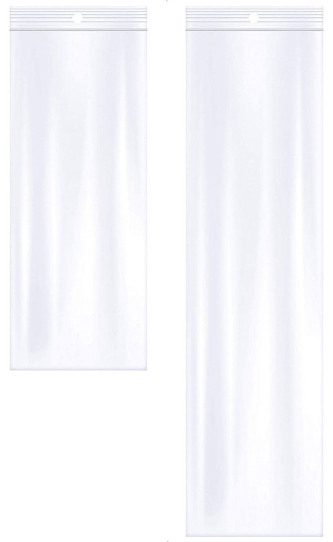"2 Mil Pack of 100 Zipper Reclosable Plastic Bags Details about  /AlExuz 3/"" x 12/"" and 3/"" x 8/"""