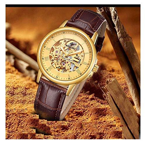 JYTFZD YANGHAO-Reloj de Pulsera- Reloj de Moda Moda Moda Mecánico Mecánico Reloj Impermeable Hollow Reloj OUZDNSSB-5