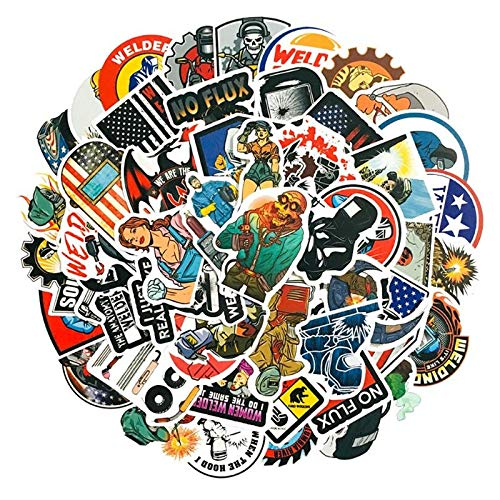 100PCS 10/30/50PCS Toolbox Helmet Welding Construction Alliance Hard Hat Sticker Wholesale stickers (Color : 10PCS)