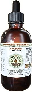 Acacia Alcohol-FREE Liquid Extract, Organic Acacia (Acacia senegal Gum Arabic) Dried Gum Glycerite Herbal Supplement 2 oz