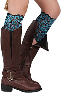 YiyiLai Women Stretch Floral Lace Leg Warmers Boots Cuffs Toppers Socks