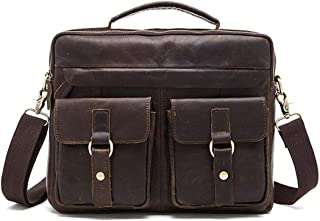 Genuine Leather Duffle Bag Garyesh Overnight Bag Mens Single Shoulder Handbag Weekend Travel Bag