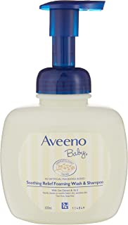 Aveeno Baby Soothing Relief Foaming Wash & Shampoo, 400 milliliters