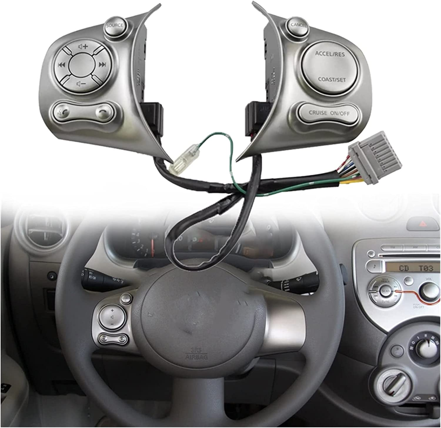 QAQA Fit for Nissan March Sunny 2011-2015 Car Multifunction Stee