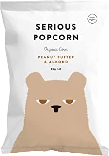 Serious Foods Popcorn - Peanut Butter Almond 80g (Case pack of 12 bags)