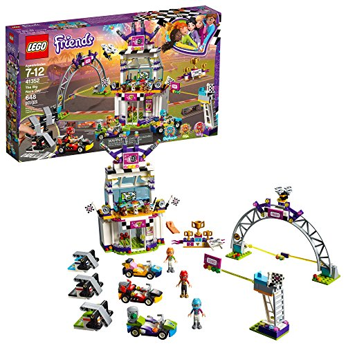 LEGO Friends The Big Race Day 41352 Building Kit, Mini Go Karts and Toy Cars for Girls, Best Gift for Kids (648 Piece)