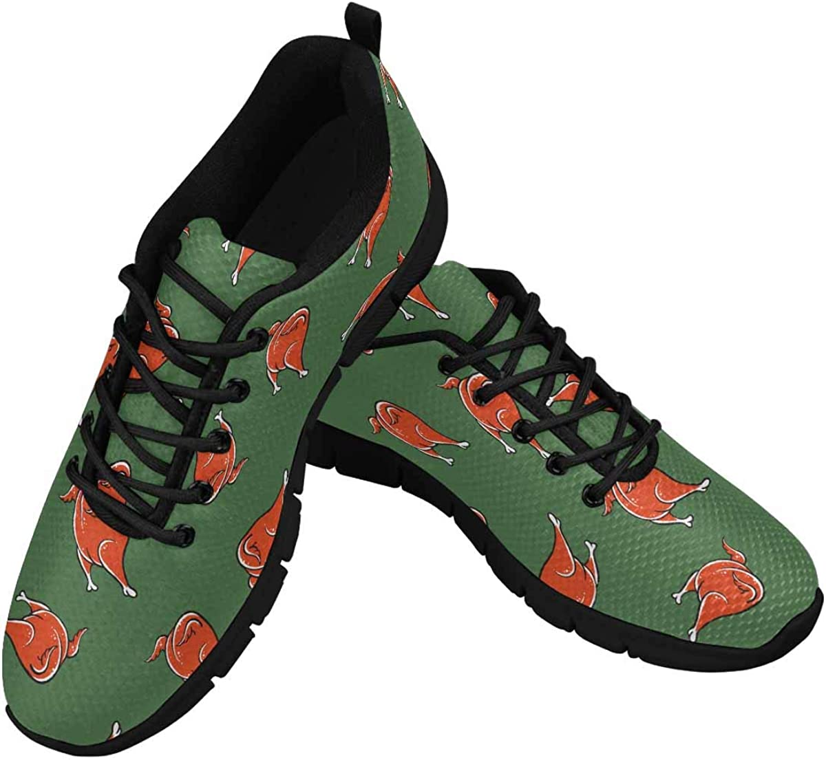 INTERESTPRINT Thanksgiving Background Women's Athletic Mesh Breathable Casual Sneakers