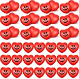 Yaomiao 48 Pieces Valentine's Day Heart Smile Face Stress Balls Heart Shaped Mini Foam Balls Smile Stress Balls for School Carnival Reward, Valentine Party Present Fillers (Red)