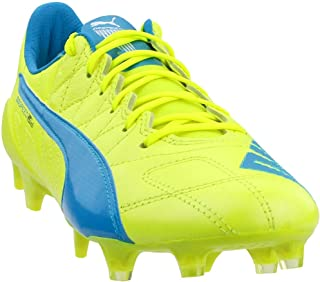 Mens Evospeed Sl Leather Fg Firm Ground Soccer Cleats Yellow/White 10