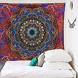 KHKJ Indio Hippie Bohemio Psicodélico Pavo Real Mandala Colgante de Pared Tapiz de Ropa de Cama A1 200x180cm