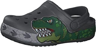 Crocs Unisex-Child 206157-0DA Kid's Dinosaur Band Clog|Slip on Water Shoe for Toddlers, Boys, Girls
