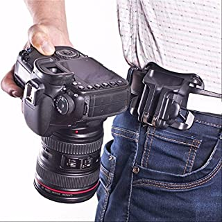 Techlife TECH009 Plastic Waist Camera Belt for All Cameras (Black)