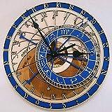 Braceletlxy Reloj astronómico de Praga Reloj de Pared de Sala de Estar Creativo Reloj silencioso,40cm