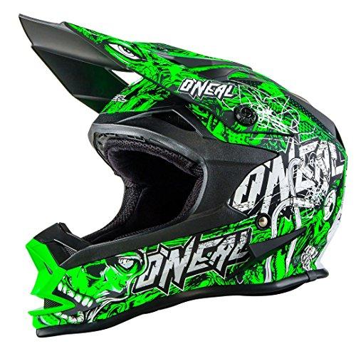 O'NEAL 7 Series Evo Motocross Enduro MTB Helm Menace schwarz/grün 2018 Oneal: Größe: XXL (63-64cm)