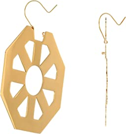 Tory Burch Geo Hoop Earrings