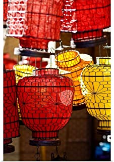 GREATBIGCANVAS Poster Print China, Beijing, Decorative Lanterns in Market Place by Ray Laskowitz 12